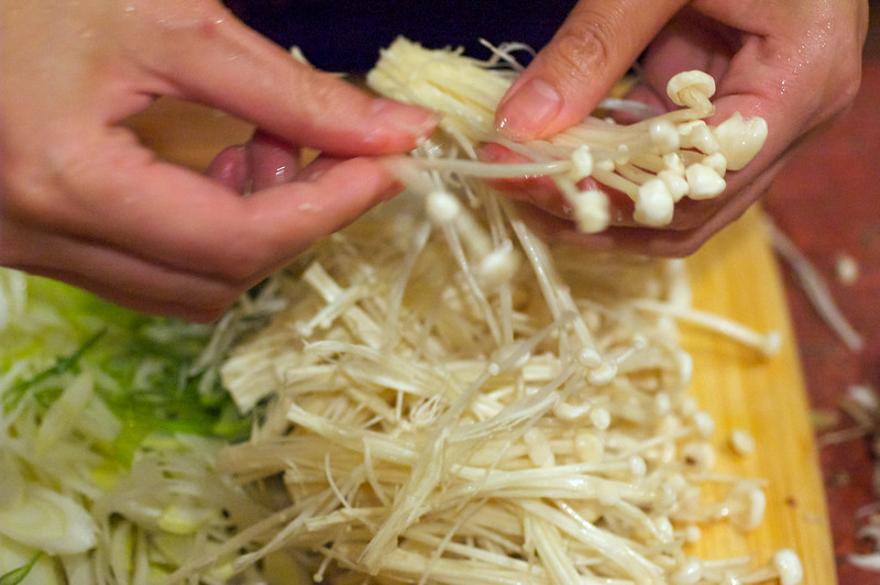 comment traiter Enoki champignons