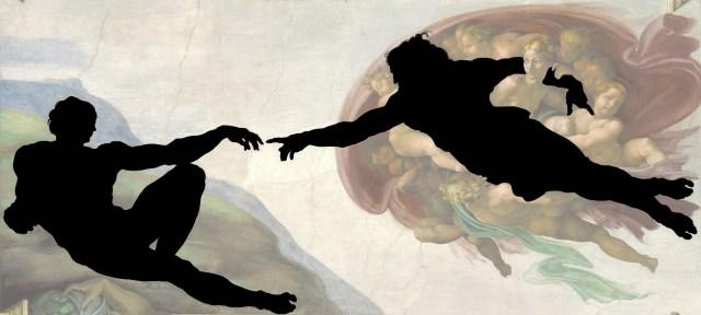 Michelangelo_-_Creation_of_Adam_silhouette