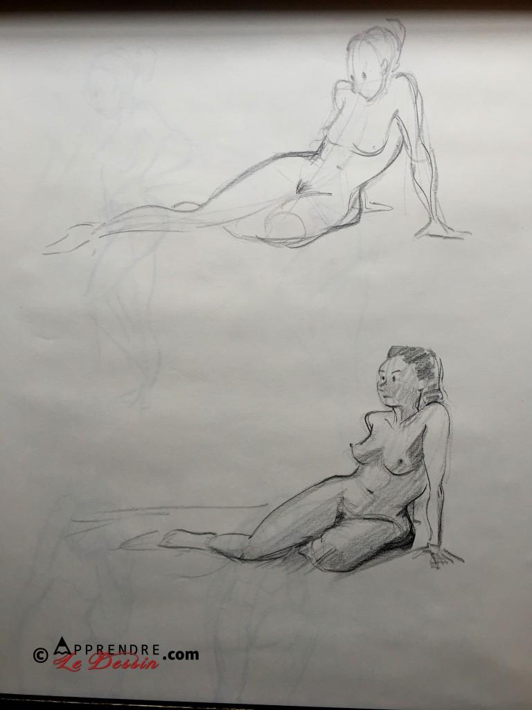 Dessin Pose Nue Modele Femme 05