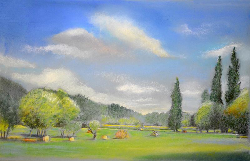 Comment dessiner un paysage au pastel apprenez a - Dessiner un paysage ...