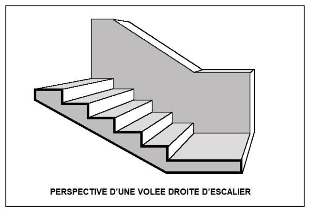 dessiner un escalier en perspective apprenez a. Black Bedroom Furniture Sets. Home Design Ideas