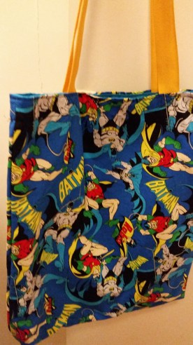 batman and robin library bag
