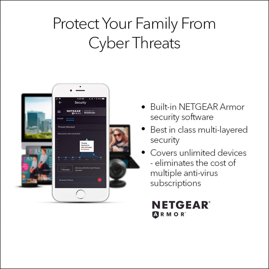 NETGEAR R6700AX AX1800 WiFi-6 Wireless Router
