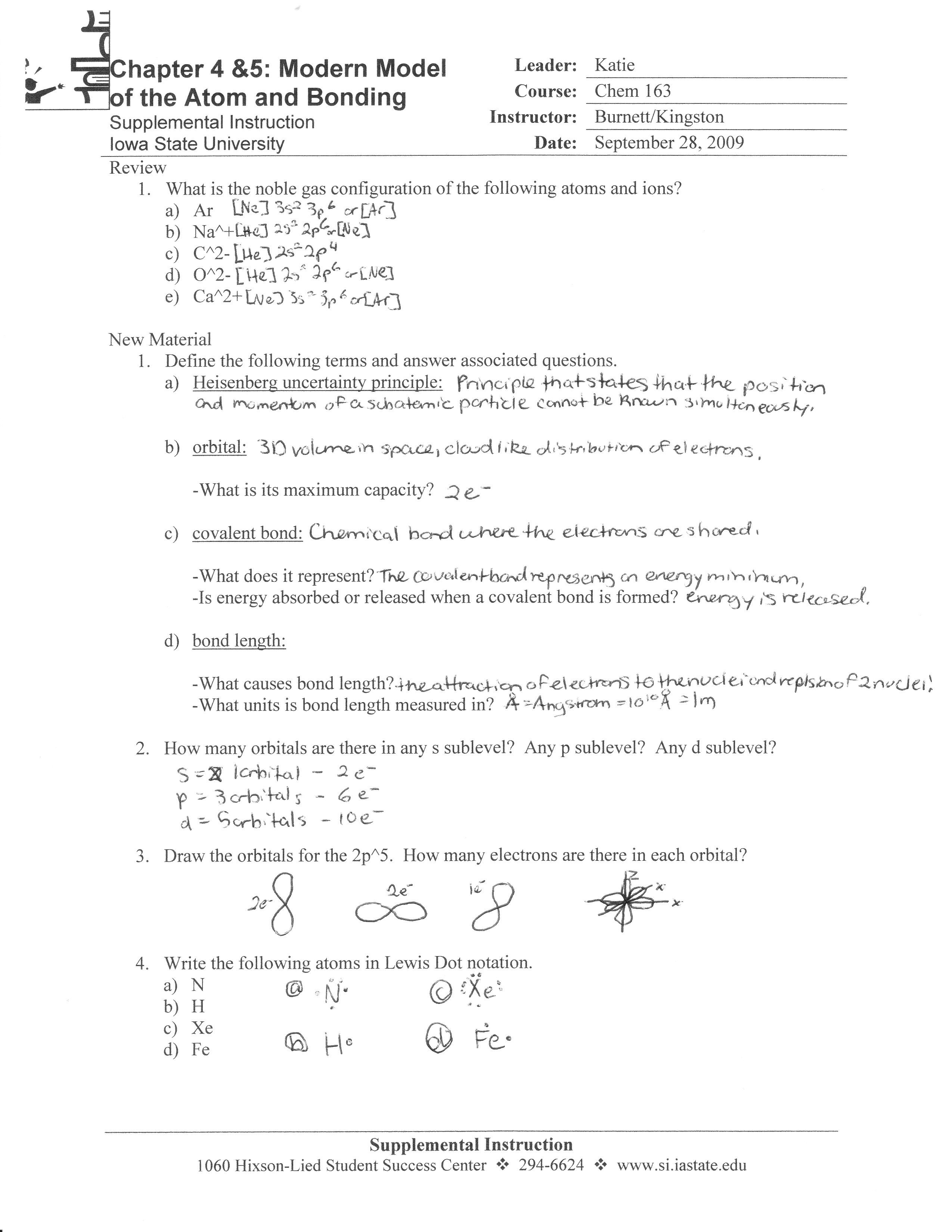 Chem 163 Supplemental Instruction