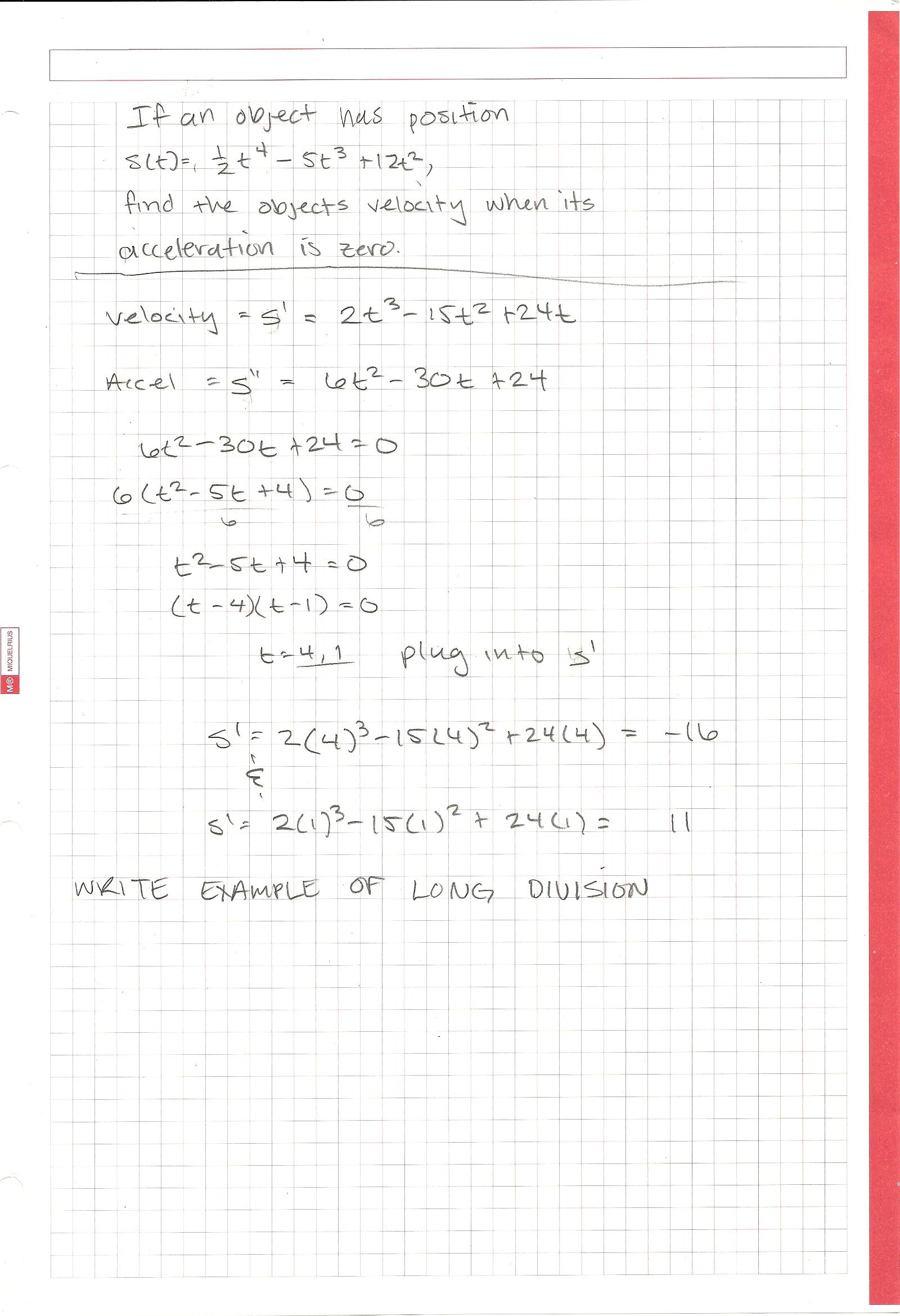 Math 165 36 41 Supplemental Instruction