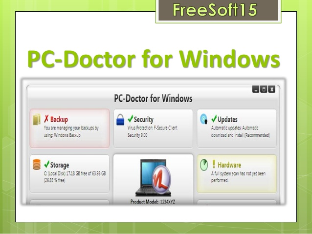 PC Doctor For Windows