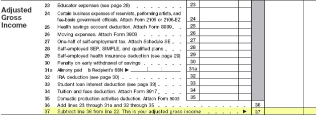 Your Adjusted Income Get Gross