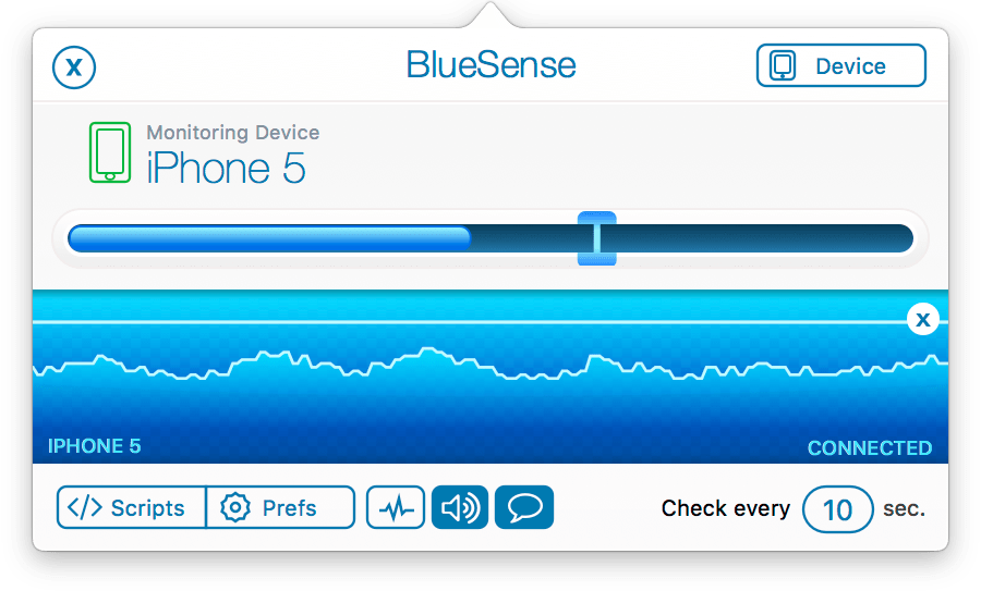 BlueSense 1.3 Mac 破解版 - 蓝牙设备检测分析工具