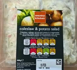 Coleslaw and potato salad