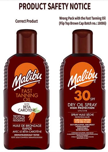 Malibu Sun Factor 30 Dry Oil Spray