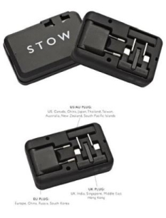 Stow Travel Plug Adaptor