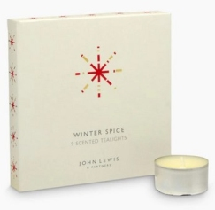 John Lewis set of nine Winter Spice scented tealights