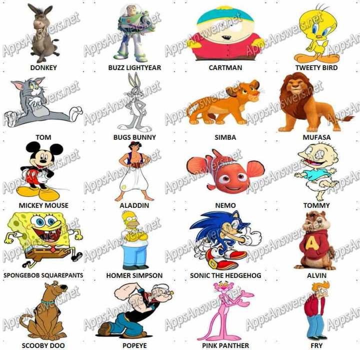 Level 6 Cartoon Characters : Cartoon character quiz answers level ankaperla