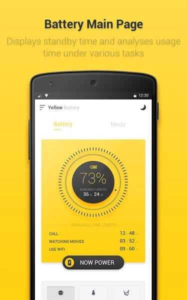 تطبيق Yellow Battery