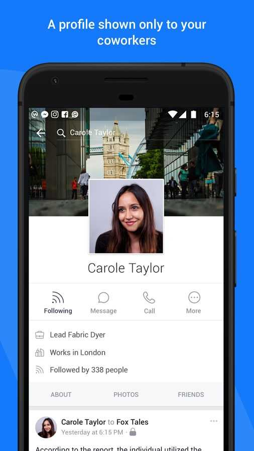 تطبيق Workplace by Facebook