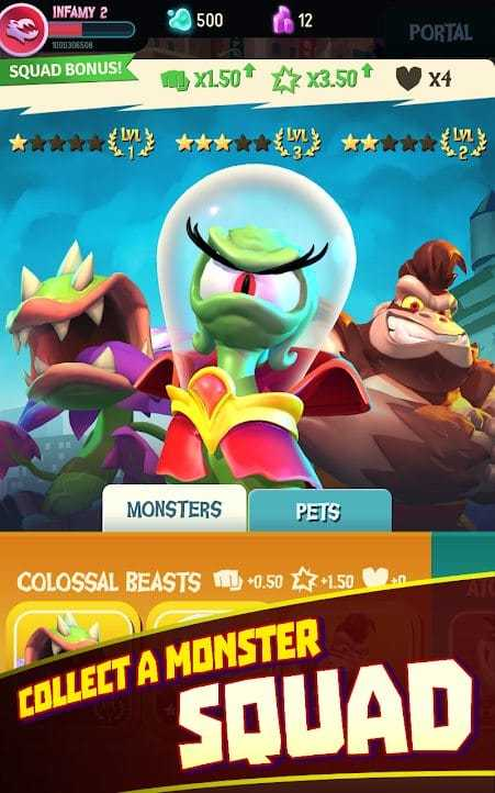 I Am Monster: Idle Destruction مهكرة للاندرويد
