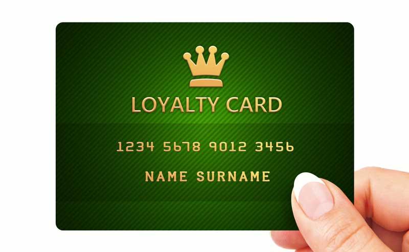 green loyalty card