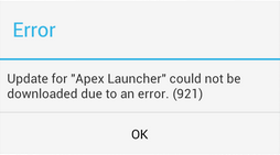 Android error 921 fix