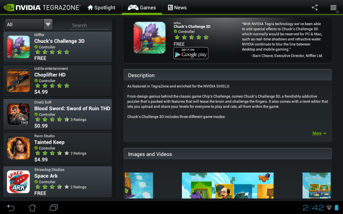 NVIDIA TegraZone now available for all Android devices