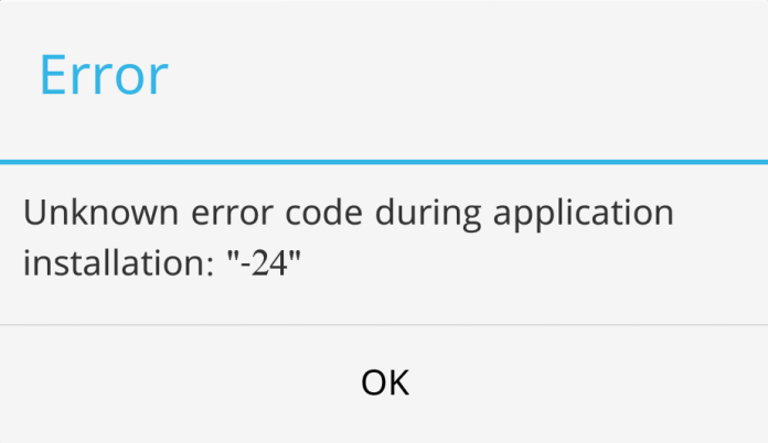 Android Fix: Error 24 during app installation in Google Play