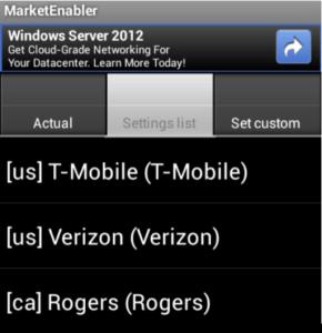 Market Enabler Screenshot