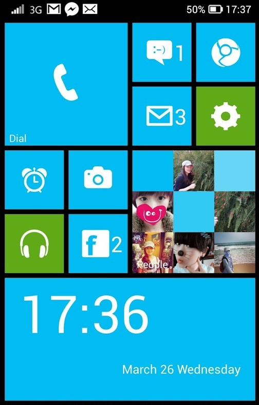 Make Android look like Windows Phone with Launcher 8