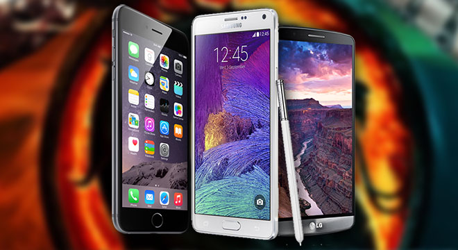 iPhone 6 Plus Vs Galaxy Note 4 Vs LG G3: specs comparison