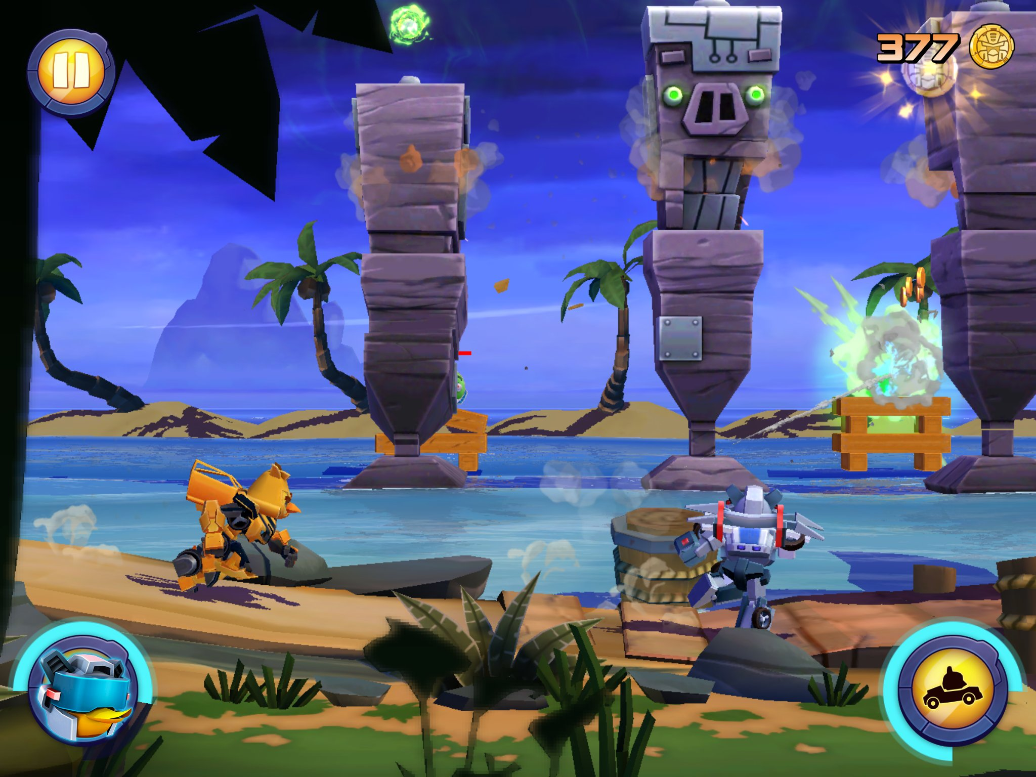 Angry Birds Transformers Gameplay Review For Iphone