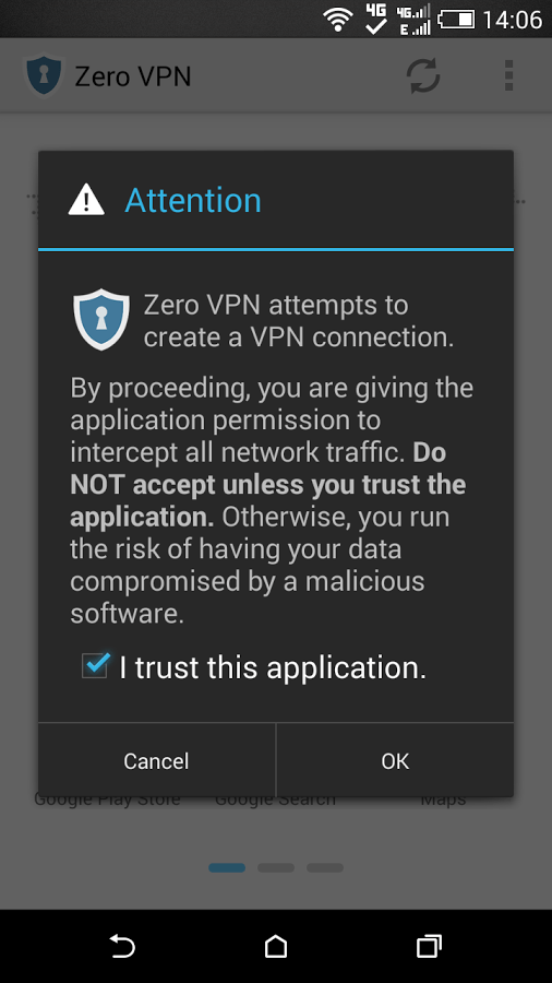 Another best free VPN apps for android, Zero VPN