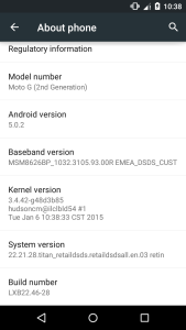lollipop in your moto g 2014