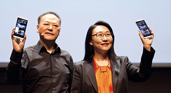 Cher Wang replaces Peter Chou as the CEO of HTC
