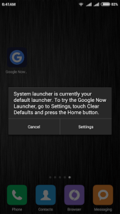 Google Now Launcher - Normal Installation