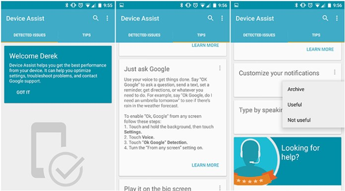 google device assist - Check Android Device