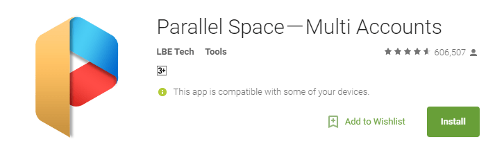 parallel space play store