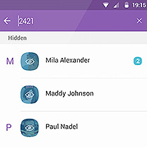 How to Hide and Unhide message/chat in Viber on both Android