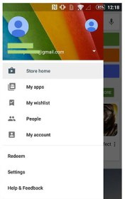 Switch/Change the accounts in Google Play Store