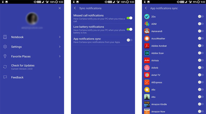 Android notification on Windows 10