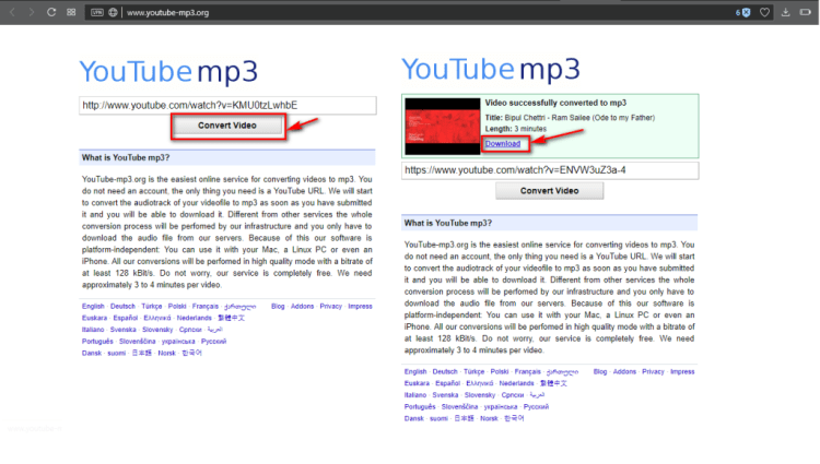 Convert Youtube Videos to MP3 - YouTubeMP3