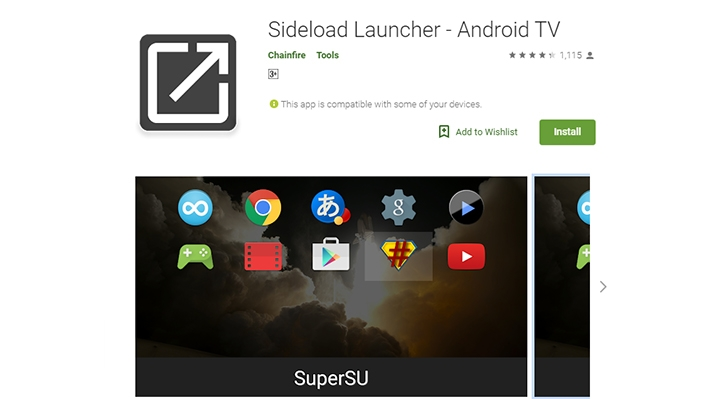 Sideload apps on Android TV