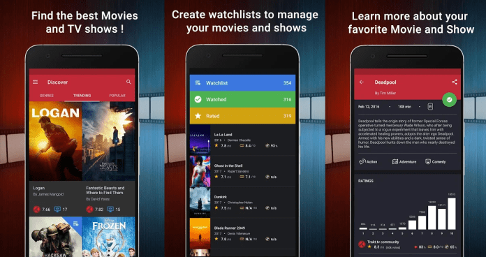 Best TV and Movies Tracker app