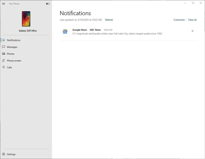 Send Messages from Galaxy S20 using PC