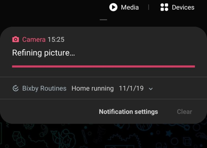 Fix refining picture notification on Samsung Galaxy Note 10