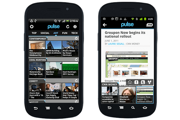 Android Pulse-Amazing Android App for News Lovers