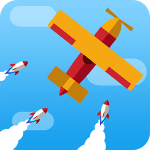 Go Plane Up Missiles attack & escape For PC