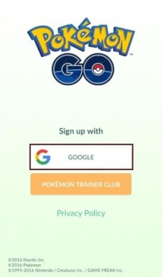 How to Sign Up for Pokémon Go with Google Account