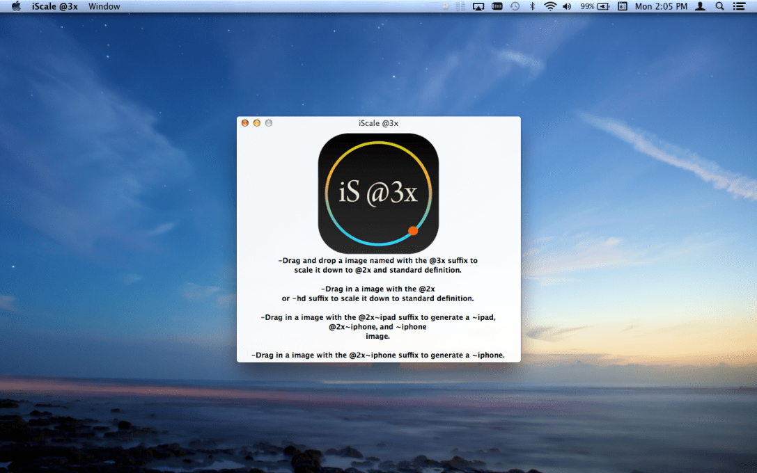 iScale  @3x Mac App screenshot.