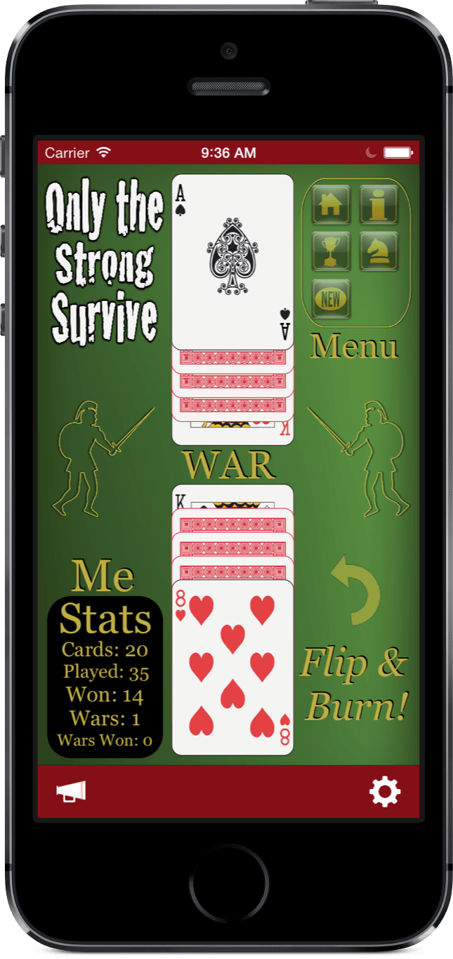 War the Ultimate Multiplayer Experience iOS app running on a iPhone 5s.