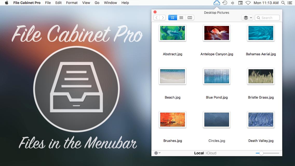 File Cabinet Pro Mac app promo art.