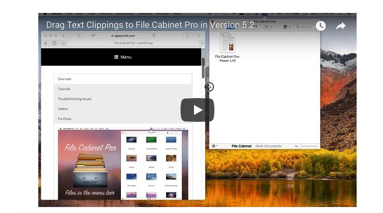 File Cabinet Pro Mac screenshot version 5.2.