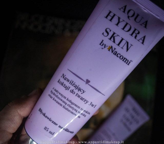maschere viso nacomi aqua hydra skin